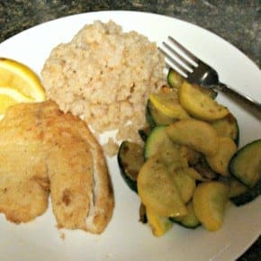 Tilapia and brown rice