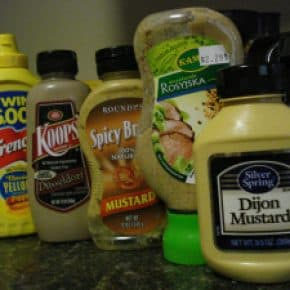 Mustards in my fridge