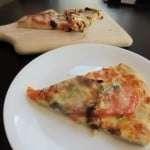 Basil Sun Dried Tomato Mozzarella Pizza and Goat Cheese Pizza