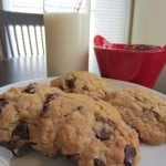 Peanut Butter Dark Chocolate Chip Oatmeal Cookies