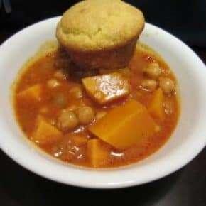 Chick Pea, Lentil, Sweet Potato, Squash Tika Masala Stew