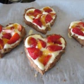 Heart Shaped Fruit Tart with Pecan Crust