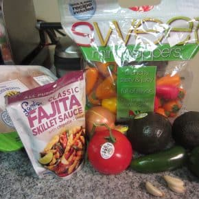 Chicken Fajitas with the Best Guacamole Recipe