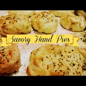 Savory Hand Pies with Flakey Cheddar Crust two ways