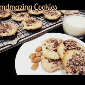 Almondmazing Cookies – Gluten Free Almond Cookies with Dark Chocolate Almond Topping