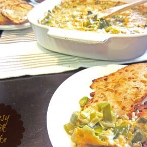 Cheesy Leek Bake