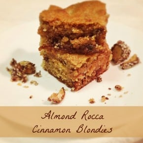 Almond Rocca Cinnamon Blondies