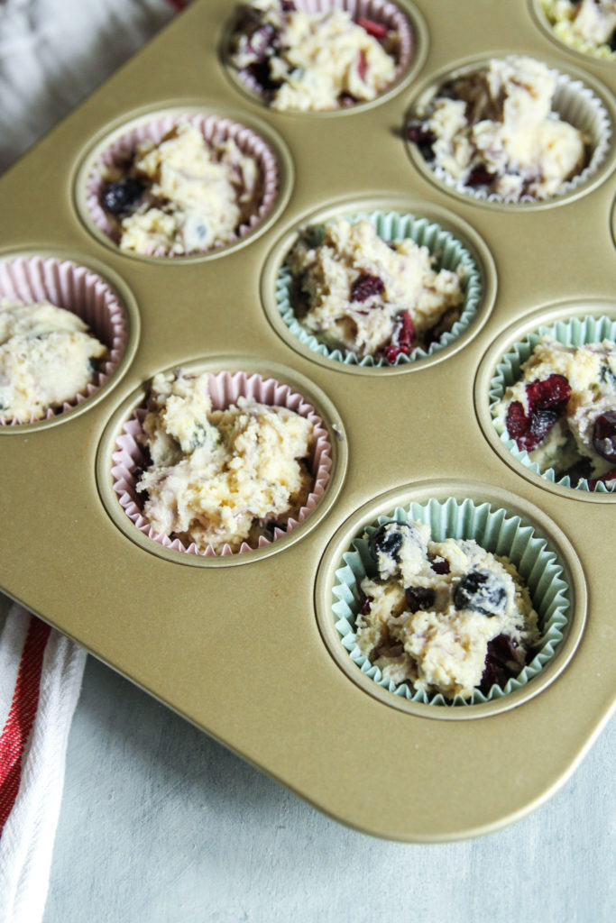 The best blueberry cherry muffins made with Greek yogurt