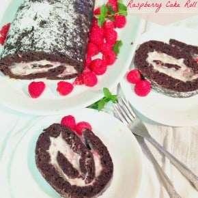 Chocolate Zucchini Raspberry Cake Roll