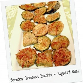 Five Ingredient Fridays – Breaded Parmesan Zucchini & Eggplant Bites