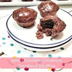 Mini Chocolate Cinnamon Baked Doughnut Muffins