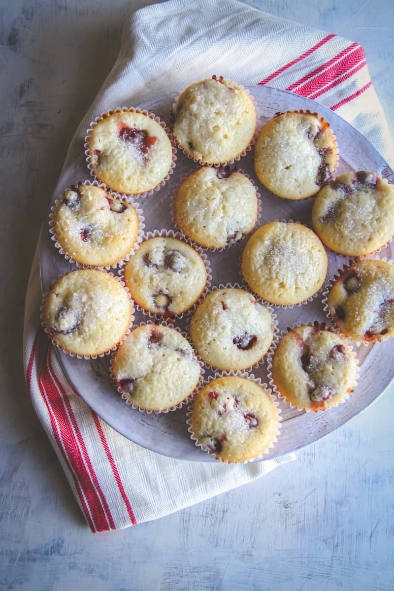 The most delicious sour cherry muffins