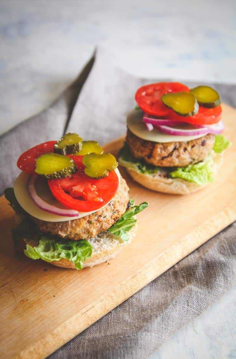 The best sour cream and chive turkey burgers