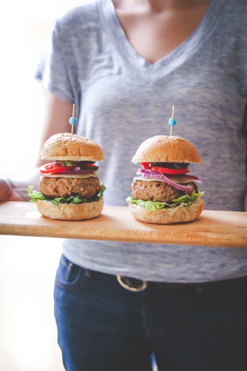 The best ever recipe for sour cream and chive turkey burgers