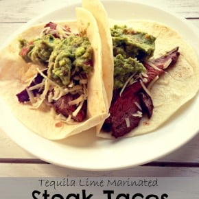Tequila Lime Marinated Steak Tacos