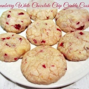 Cranberry White Chocolate Chip Crinkle Cookies
