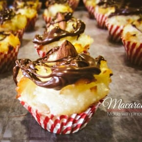 Macaroons made with pineapple