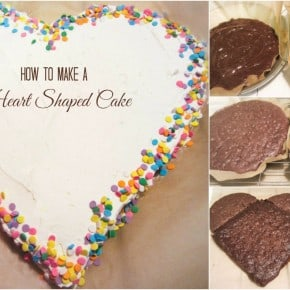 How to make a heart shaped cake without a pan
