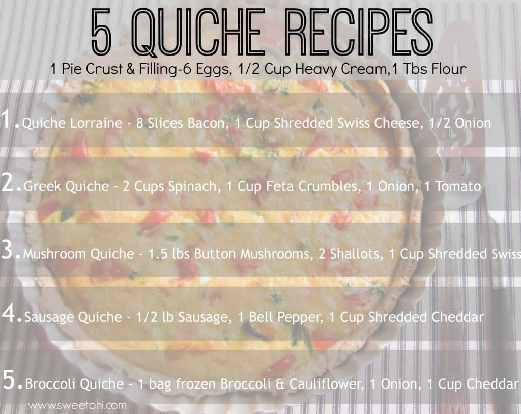 5 Quiche Recipes To Make