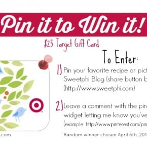 Pin it to Win it Target Gift Card