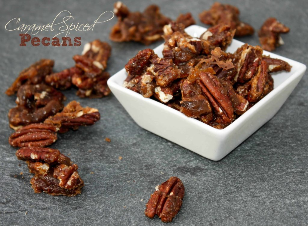The best ever caramel spiced pecans