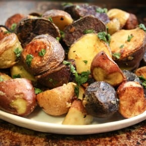 Perfectly Roasted Rainbow Potatoes