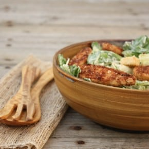 Vegetarian-Caesar-Salad-with Gardein Crispy Tenders