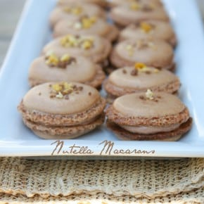 Chocolate Nutella Buttercream Macarons