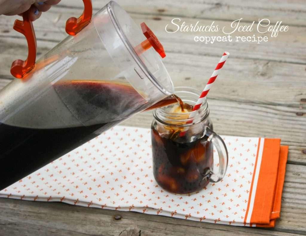 Starbucks Iced Coffee Copycat Recipe Sweetphi