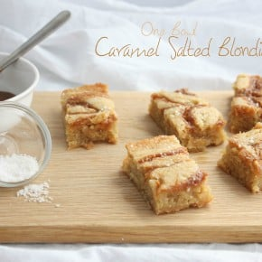 One Bowl Salted Caramel Blondies