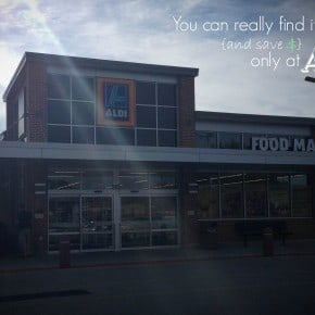 You can really find it all {and save $} only at ALDI