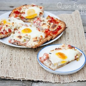 Queso Fresco Chile Breakfast Pizza and Stonefire Giveaway