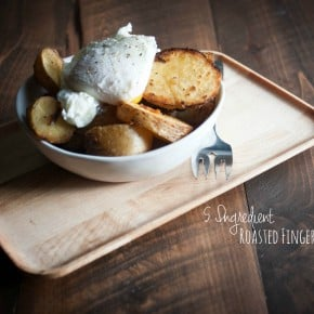 Roasted Fingerling Potatoes {with an egg}