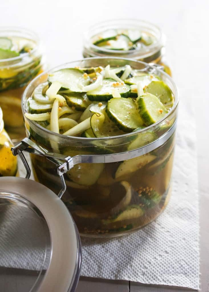 THe best bread and butter pickles in a jar