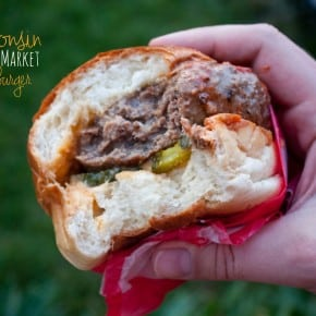 Wisconsin Farmers Market Cheeseburger