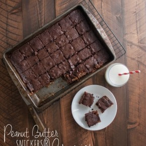 Peanut Butter SNICKERS® Brownies (aka 'husband brownies') & Football Treats