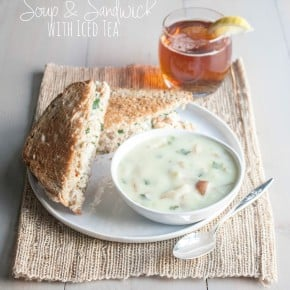 Vegetable Chicken Salad Sandwich & Leek Soup {Perfect way to Celebrate Summer}