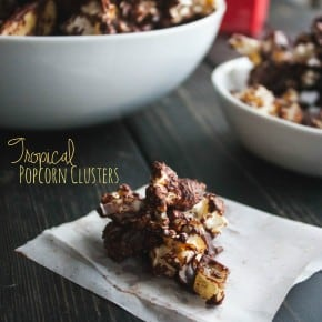 Tropical-low-calorie-popcorn-clusters