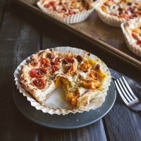 Grape-tomato-tarts