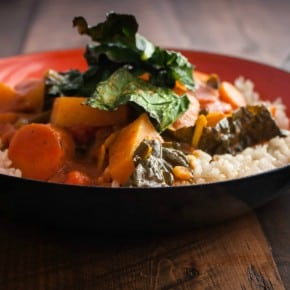Kohlrabi Curry with Crispy Kale {naturally gluten free and vegan}