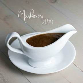Mushroom-gravy-made-from-turkey-drippings