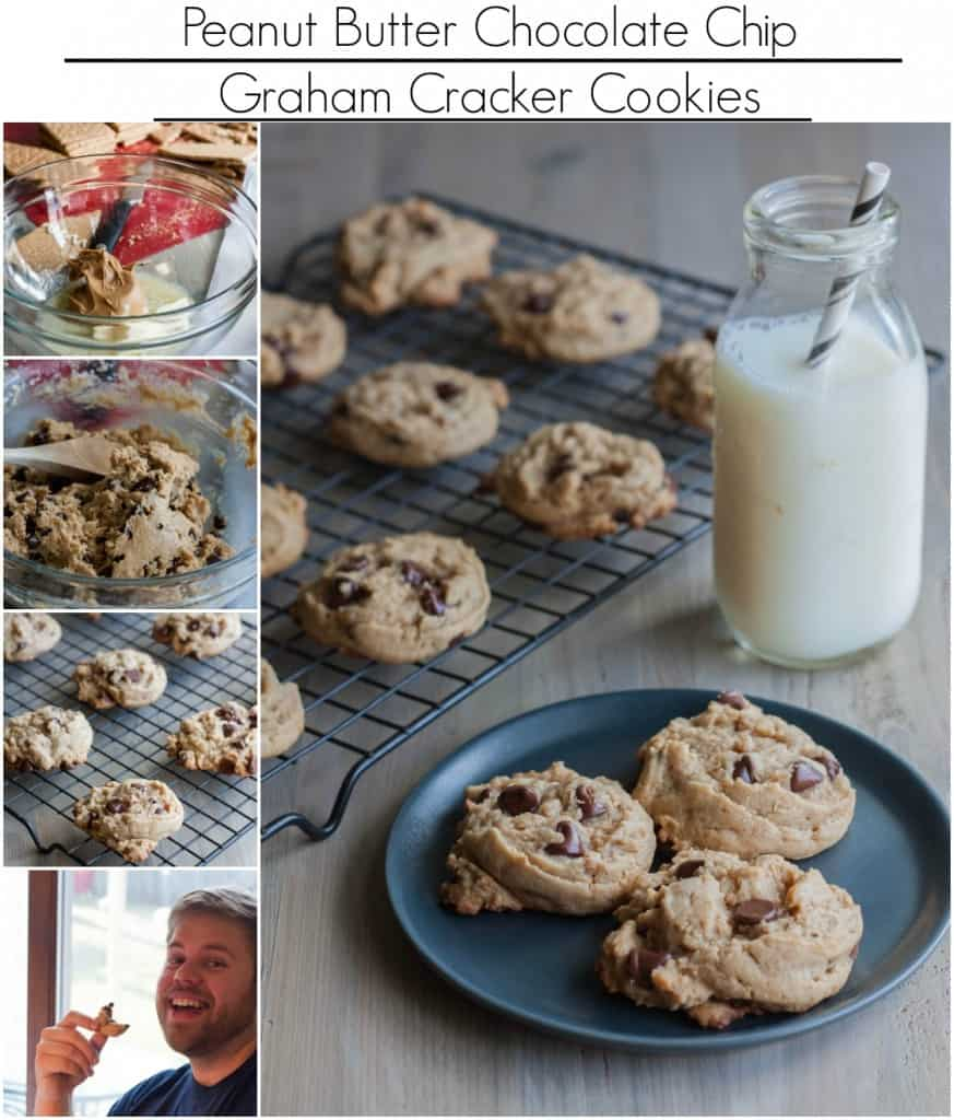 The best ever peanut butter chocolate chip graham cracker cookies
