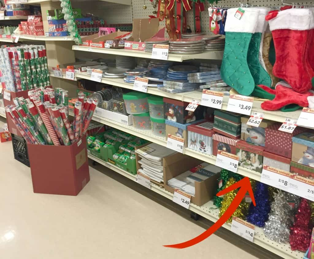 The Pck n Save holiday aisle