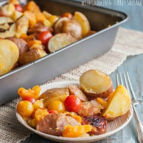 Roasted-vegetables-and-chicken-sausage