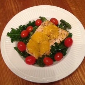 Reader recreation - salmon and kale detox salad