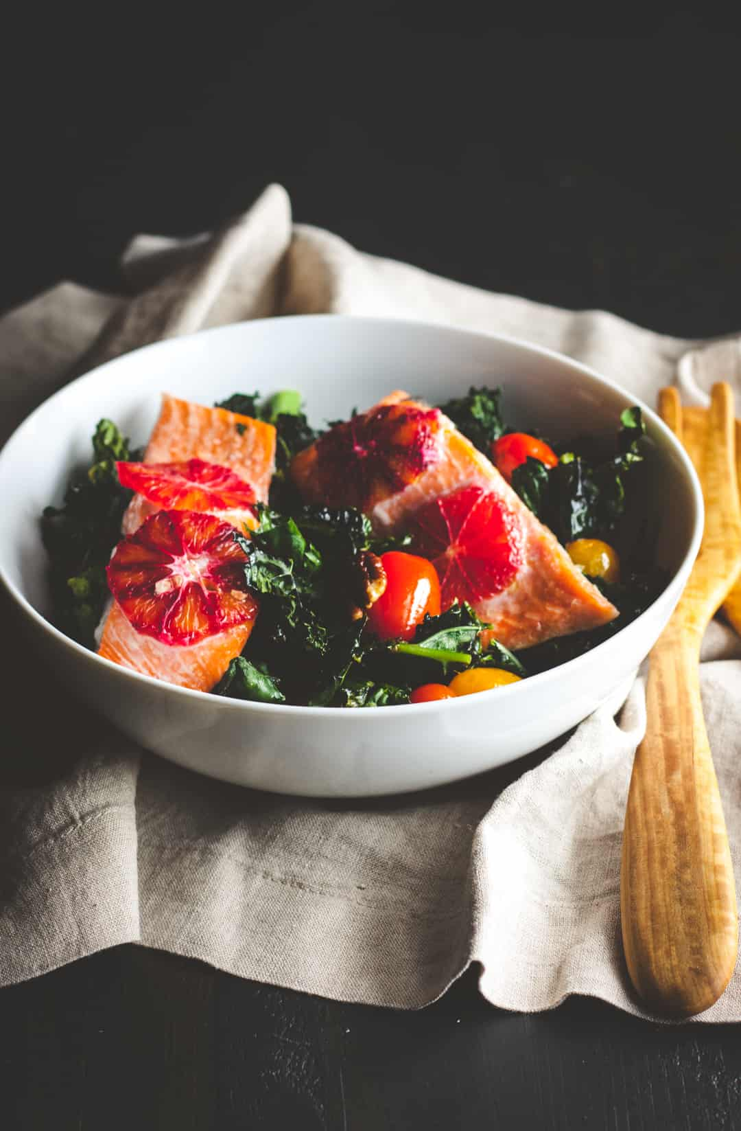 salmon kale salad recipe, salmon detox salad