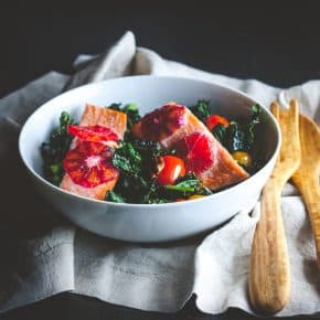 Roasted Kale and Salmon Detox Salad Recipe