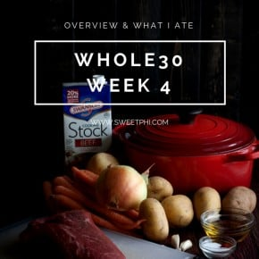 Whole30 – Week 4 Overview & What I Ate