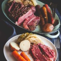 5 Ingredient Slow Cooker Corned Beef and Cabbage
