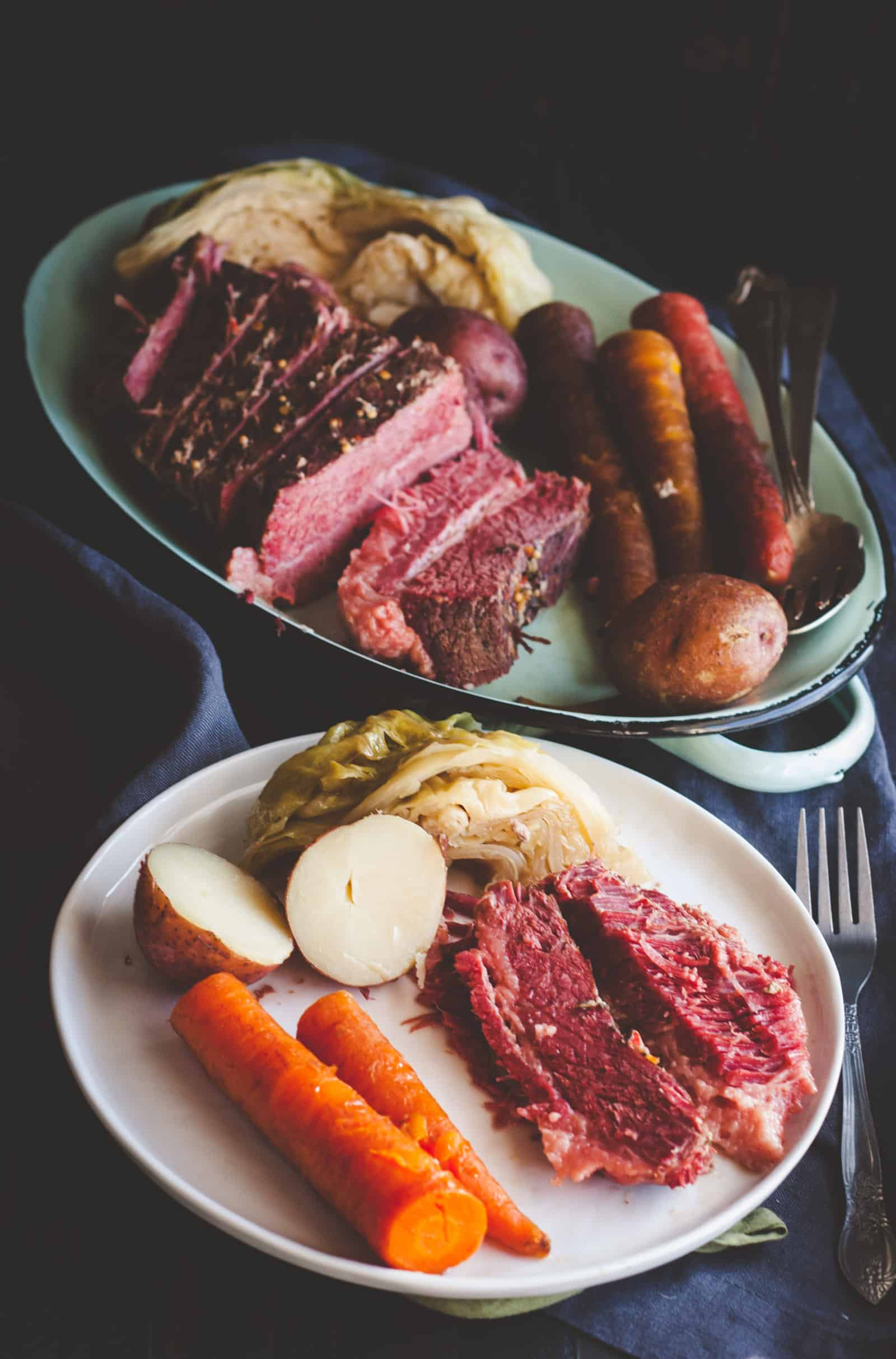The most amazing recipe for slow cooker corned beef and cabbage